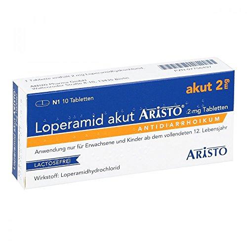 Loperamid akut Aristo Tabletten, 10 St. Tabletten