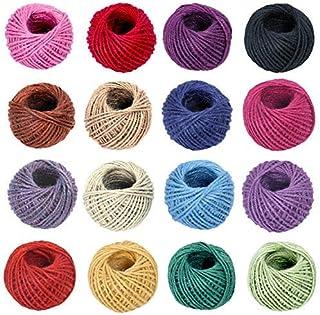 ANSIO Jute touw, 25M Tuintouw 3 ply 2 mm Dik, Perfect voor decoratie Tuin Bloemenkunde DIY Arts bundelen ambachten & wikke...