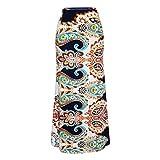 Sylar Faldas Flamencas Mujer Estampado Vintage Faldas Largas Mujer Tubo Faldas Largas Bohemias Cintura Alta