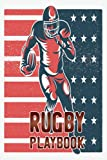 Rugby Playbook: Blank Rugby Field Diagrams Notebook Trainings Drawing League Players Coaching Template