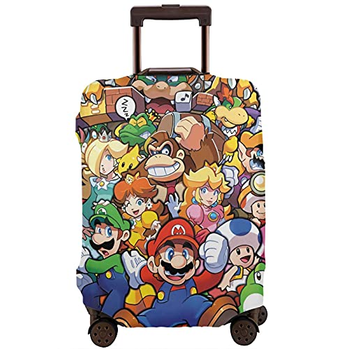 The Legend of Zelda Superhero Super Mario Smash Bros - Maleta de viaje protectora resistente a los arañazos, a prueba de polvo, elástico y flexible para equipaje de viaje, White (Blanco) - 364498777