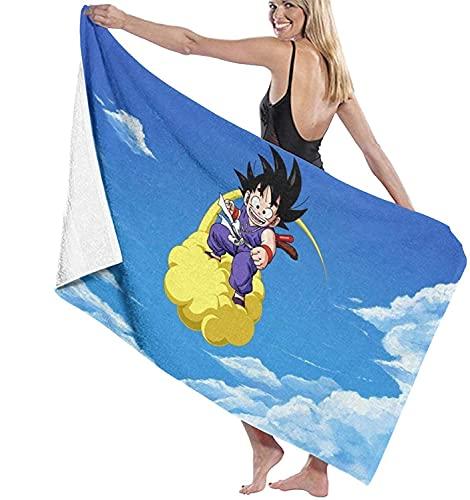 NFBZ Toalla de playa de Dragon Ball con dibujos animados en 3D, de microfibra, para el hogar, cara textil, para el pelo (Dragon Ball de 2,80 x 160 cm)