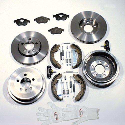 Autoparts-Online Set 60004306 Bremsscheiben/Bremsen + Bremsbeläge + Bremstrommel Set vorne + hinten