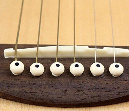 Huertuer - Pinzas para puente de guitarra (12 unidades, con ...