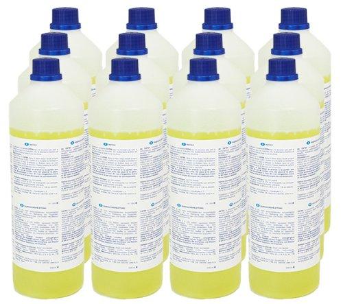 Teppich-Shampoo (12 x 1L Flasche) für alle Waschsauger - sehr ergiebig! Mischverhältnis 1:200 (statt üblichen 1:5)