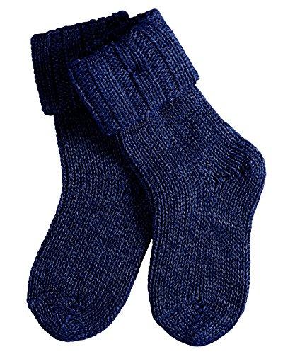 FALKE Baby Socken Flausch - Baumwollmischung, 1 Paar, Blau (Dark Navy 6370), Größe: 80-92