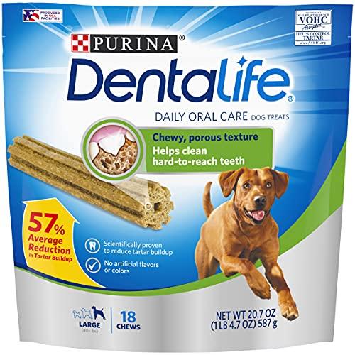 Purina DentaLife Made in USA Facilities Large Dog Dental Chews, Daily...