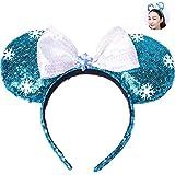 CULER Plástico Arco de la Venda de Las Lentejuelas Turbante Linda Oreja de ratón Herramientas Headwear Cuidado del Cabello Accesorios de Belleza para Las Mujeres niñas
