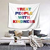 Gyaiaer Treat People With Kindness Harry Tapestry Boutique Wall Hanging Tapestry Vintage Tapestry Wall Tapestry Micro Fiber Peach Home Decor 60x51inch