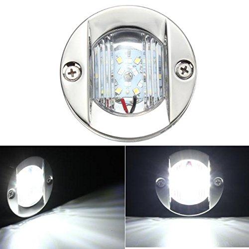 YONGYAO 12V 2.2W 147Lm LED Marine Bateau Lumière Traverse INOX Ancre Arrière Lumière Ultra-Brillant