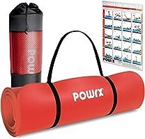 POWRX Gymnastikmatte Premium inkl. Trageband + Tasche + Übungsposter GRATIS I Hautfreundliche Fitnessmatte TÜV Süd...