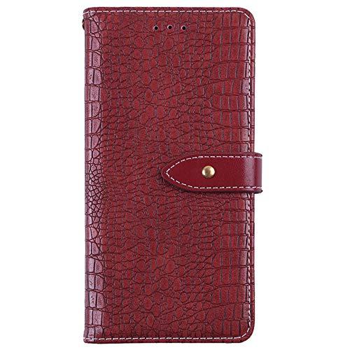 YLYT Flip Hülle Etui Rot Leder Tasche Schutz Hülle Für Leagoo Z6 4.97 inch Handy Horizontale Standfunktion Magnetverschluss Strapazierfähiger Cover