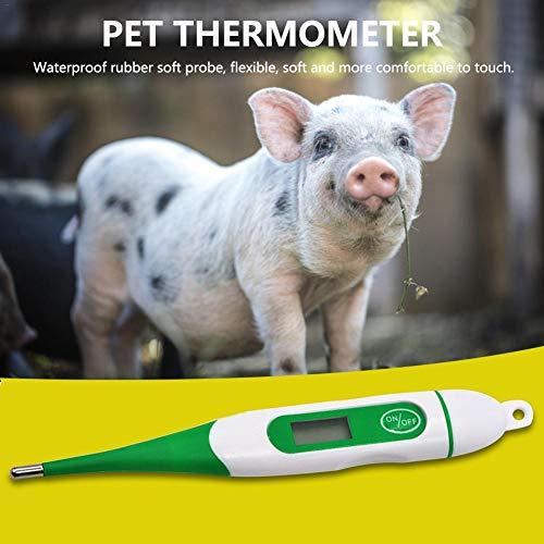 seawe Digitales Thermometer Elektronische Körpertemperatur Schwein Hund Kuh Schaf Hores Haustier Spezialthermometer Soft-Head Wasserdichter Schutz Wonderful