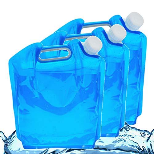 Hezhu 3 bidones de agua plegables de 10 l