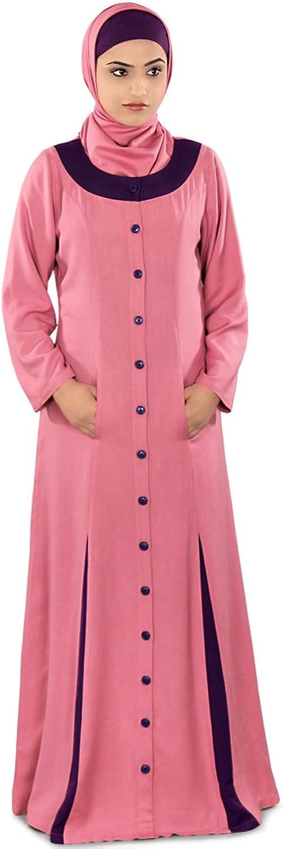 MyBatua Muslim Pink Abaya Casual & Formal Women's wear Dress AY241