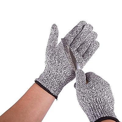 Joyutoy Kevlar Cut Resistant Glove Heat Resistant W Leather Palm