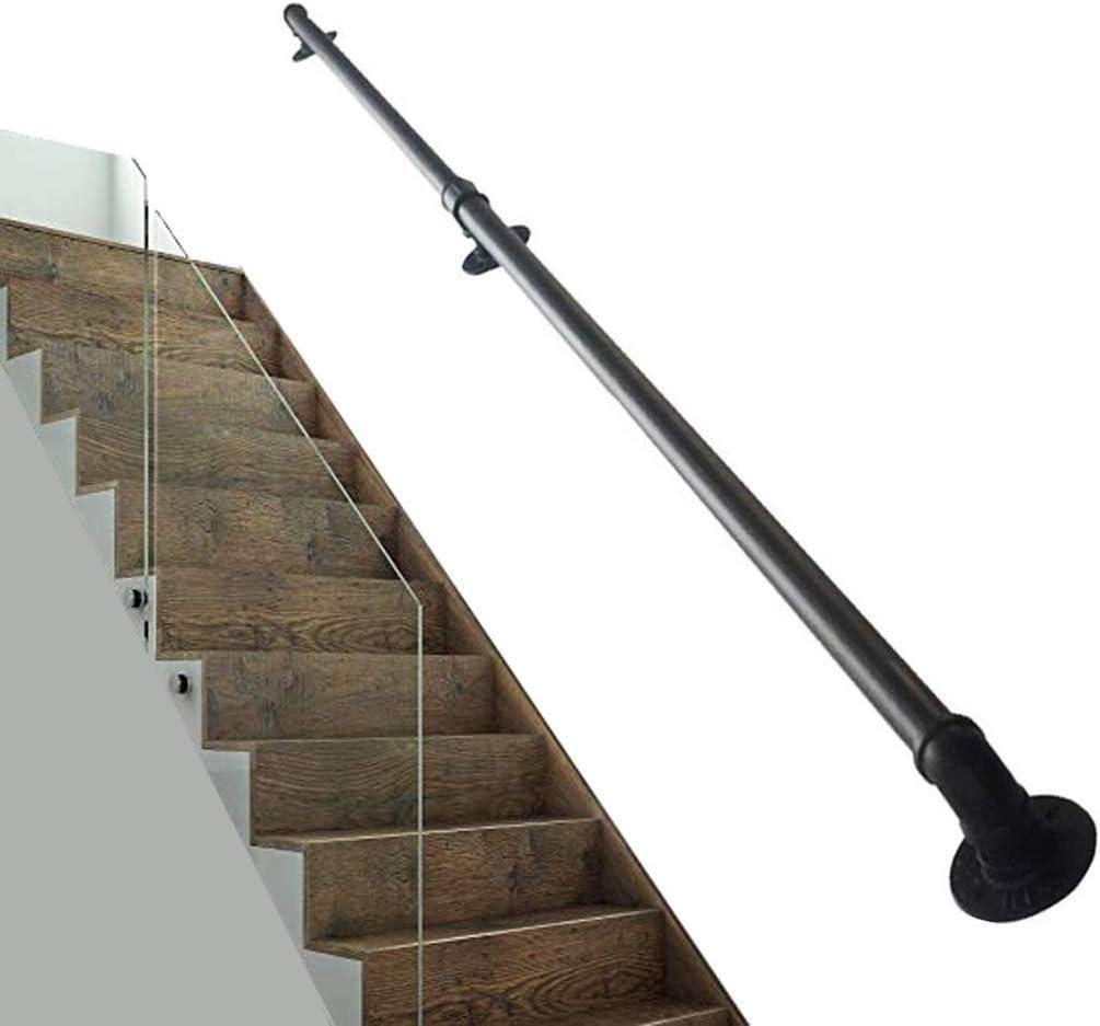Unterst/ützung Behinderte//Kinder Flur Treppenwand Size : 25cm HYXXQQ Handrail Treppengel/änder-Kit Eisenmetalle Schmiedeeisen AAA++++ 300cm Industrie Innen- Und Au/ßensicherheit Escaliers Handlauf
