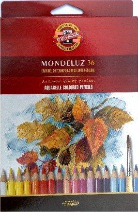 Mondeluz Aquarellstifte aus Zedernholz, 36 Stück