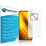Slabo 3 x Premium Panzerglasfolie für Xiaomi Poco X3 (NFC) Panzerfolie Schutzfolie Echtglas Folie Tempered Glass KLAR 9H Hartglas