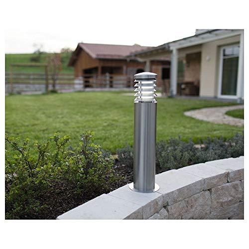 Zewnętrzna lampa stojąca LED E27 15 W Heitronic Calypso 37248 stal szlachetna