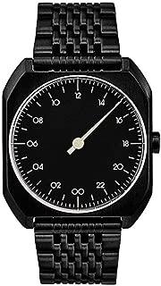 slow Mo 03 - Swiss Made one-hand 24 hour watch - Black steel