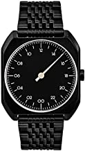 slow Mo 03 - Swiss Made one-hand 24 hour watch - Black steel