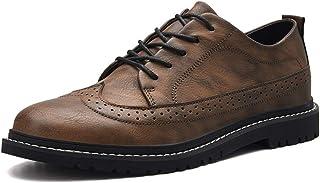 [Shuo lan JP] 男士 ブローグ 革靴 オックスフォード カジュアル クラシック 通気性 イギリススタイル シューズ 通気