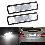 ZHANGNA 2 Piezas Coche LED Número Luces de Placa de Matrícula Lámpara para Astra G Astra F Corsa B Zafira A Omega A