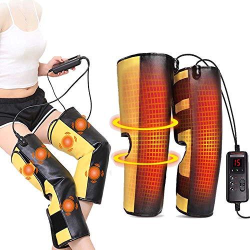 J&X Beinmassagegerät Massage Physiotherapie Knie Wadenwärme Warmhalten Elektromassagegerät für Zuhause/Büro/Reise