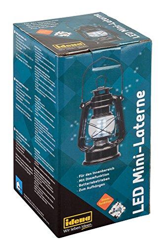 Idena 30134 - Retro Design Öllampe, LED Mini Laterne mit 12 sehr hellen LED, Dimmfunktion, batteriebetrieben, ca. 19 x 10 cm groß, für den Innenbereich, als Deko, Stimmungslicht