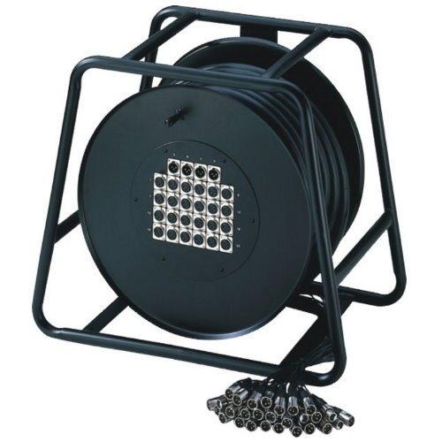 Adam Hall K 28 C 50 D 24/4er Multicore-Kabel mit Stagebox (Kabeltrommel, 50m)