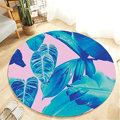 Scrolor Runde Antirutschmatte Teppich 60 cm Pflanze Garten Druck komfortable Flanell Teppiche für Küche Wohnzimmer