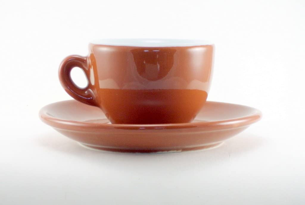 Nuova Point Sorrento Brown 6-piece Set Quantity limited 55% OFF Espresso Cup Saucer