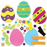 Baker Ross Kits de Imanes Combinables Huevos de Pascua Set para niños (paquete de 10)