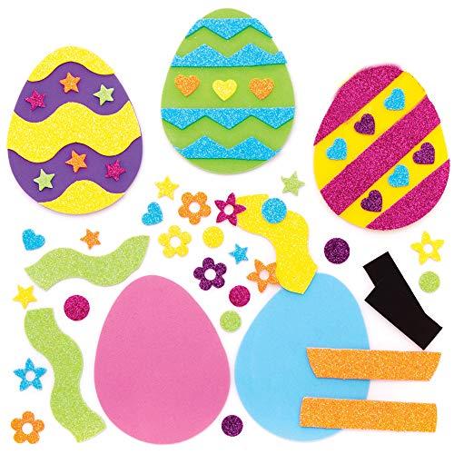 Kit Magnete Uova di Pasqua Baker Ross (confezione da 10)- Ideale per progetti educativi per bambini, regali, ricordi e altro.