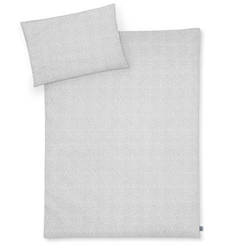 Julius Zöllner Jersey Bettwäsche 100x135 + 40x60 cm Tiny Squares Grey