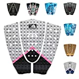 3 Piece Stomp Pad Surfboard EVA Traction Pad with 3M Adhesive Professional Tail Pad/Applies All Boards - Surfboards, Shortboards, Longboards, Skimboards/Multiple Color Choices