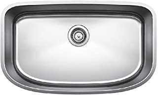 """BLANCO 441586 One Super Undermount Single Bowl Kitchen Sink, 30"""" x 18"""", Stainless Steel"""