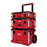 Milwaukee 22 in. Packout Rolling Modular Tool Box Stackable Storage System, Designed for Harsh Jobsite...