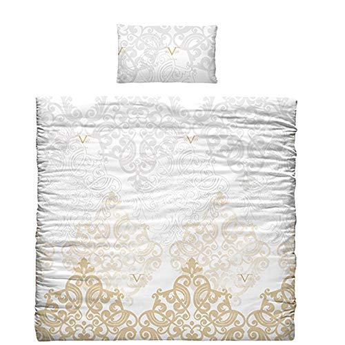 Versace 19 V69 dekbed en kussensloop voor beddengoed, katoen, goud, 35 x 25 x 23 cm, 7 stuks