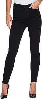 Womens Bridget High Waist Ankle in Soft Silky Denim in Indigo Overdye Black