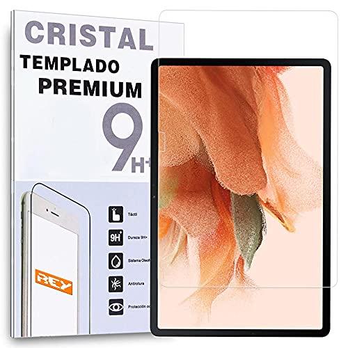 """REY Protector de Pantalla para Samsung Galaxy Tab S7 FE 5G - WiFi (12,4""""), Cristal Vidrio Templado Premium"""