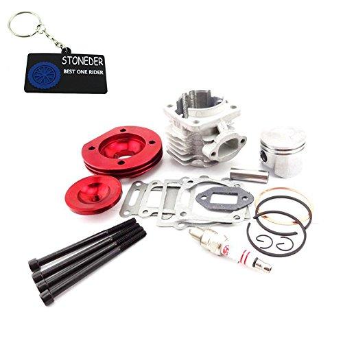 STONEDER Kit de pistón de eje de cilindro grande de 44 mm, para motor de 2 tiempos, 47 cc, 49 cc, minimoto ATV, quad