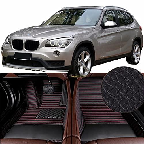 QCYP Alfombrillas para Coches Adecuado para BMW X1 xDrive20i (Neumático: 225/50 R17) SUV de 5 Puertas y 5 plazas 2015 Alfombrillas para Todo Tipo de Clima Alfombras de Auto,LHD