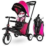 smarTrike Triciclo Plegable STR5 para niños pequeños de 1,2,3 años de Edad, con Bordado Individual Gratuito, Triciclo 7 en 1 (Rosa)