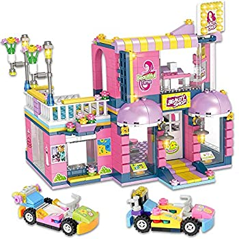 DEFICOSY Kith Hair Salon Fun Toys Building Blocks Set Includes Juice Bar Creative Building Toy Set for Kids Best Learning and Roleplay Gift for Girls and Boys with Storage Box  646 Pieces