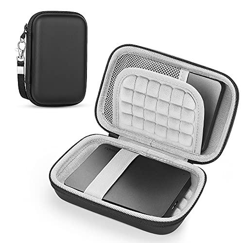 Custodia per Hard Disk Esterno TOSHIBA Canvio Basics / Western Digital WD Elements / Seagate HDD caso, Memoria Esterna Portatile Disco Esterno Protettiva Borsa Antiurto Rigida Cover Case (gray)