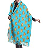 Elaine-Shop Windsurfing Boarg Bufanda casual de cachemira para mujer Wraps Bufanda grande de invierno