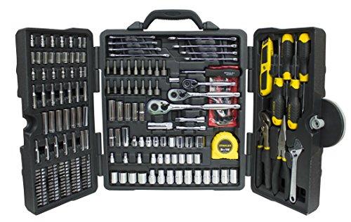 Stanley STHT5-73795 Conjunto de herramientas mixtas, Cromado, 210 Agujeros