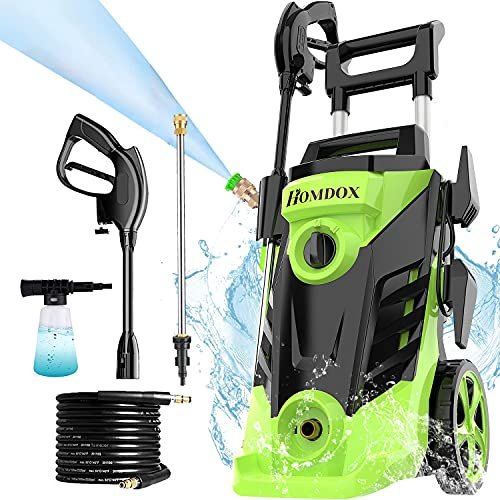 Homdox Electric Pressure Washer, 3350 PSI 2.6 GPM Power Washer, 1800 W High Power Cleaner with 4...